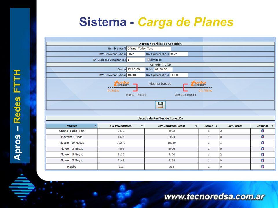 Sistema - Carga de Planes