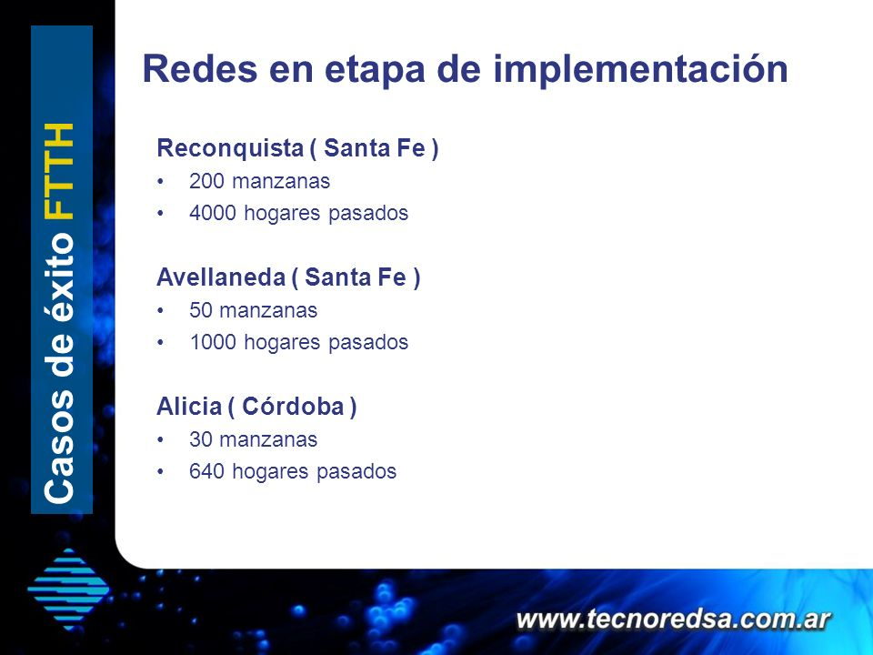 Redes en etapa de implementación