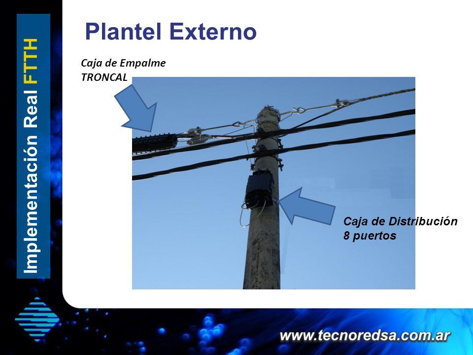 Plantel Externo Implementación Real FTTH Caja de Empalme TRONCAL