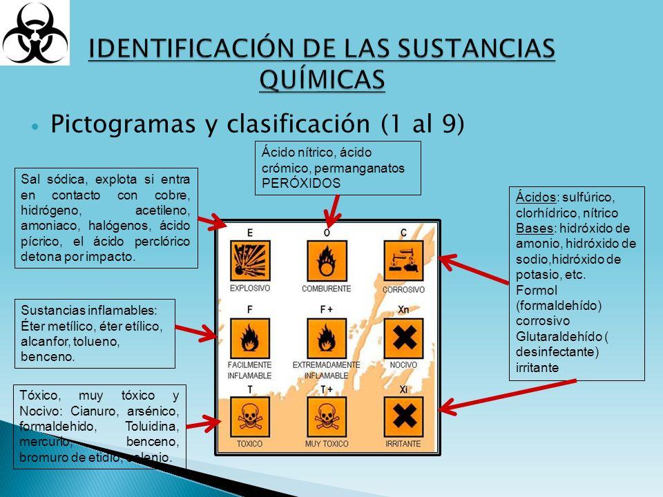 IDENTIFICACIÓN DE LAS SUSTANCIAS QUÍMICAS