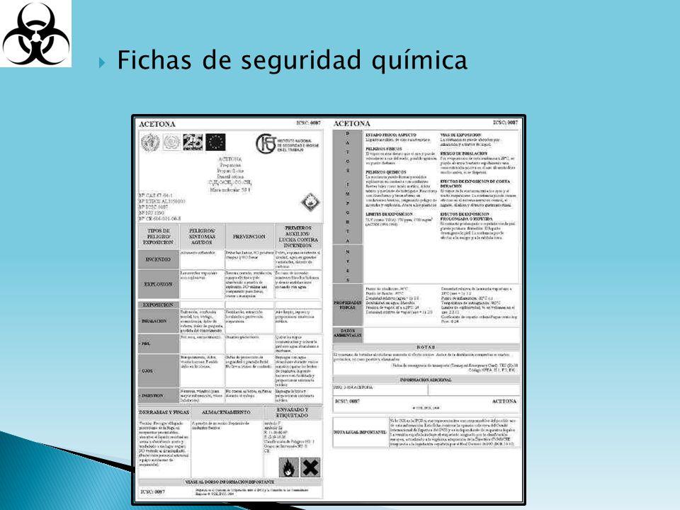 Fichas de seguridad química
