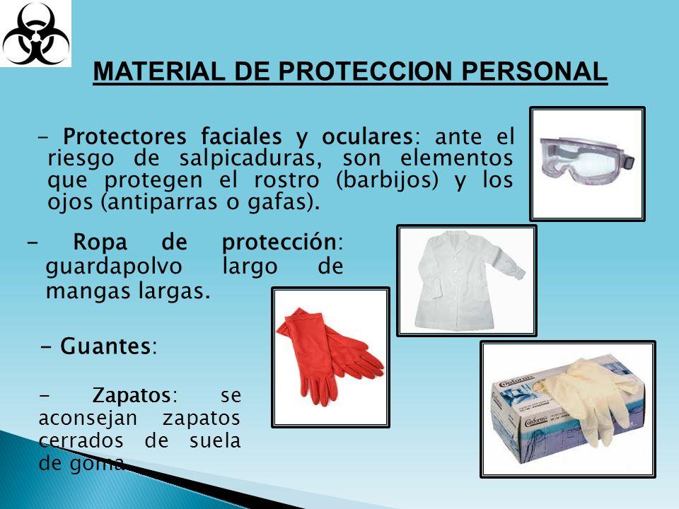 MATERIAL DE PROTECCION PERSONAL