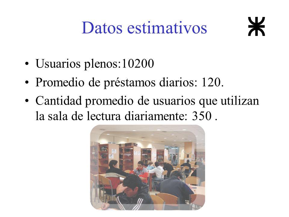 Datos estimativos Usuarios plenos:10200