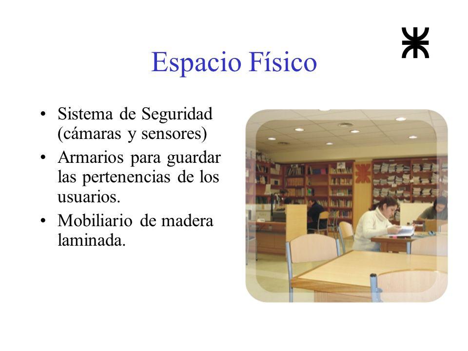Espacio Físico Sistema de Seguridad (cámaras y sensores)