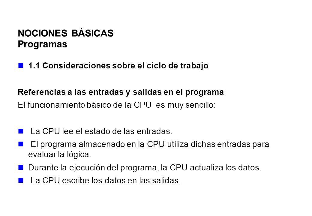 NOCIONES BÁSICAS Programas