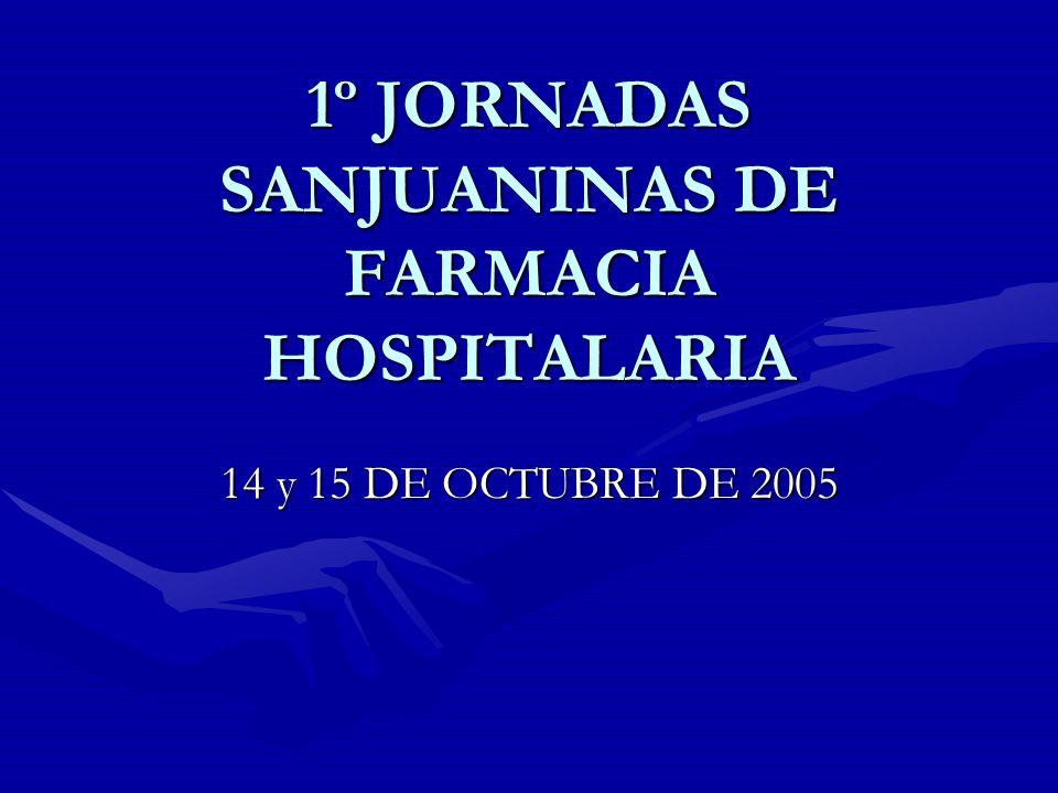 1º JORNADAS SANJUANINAS DE FARMACIA HOSPITALARIA
