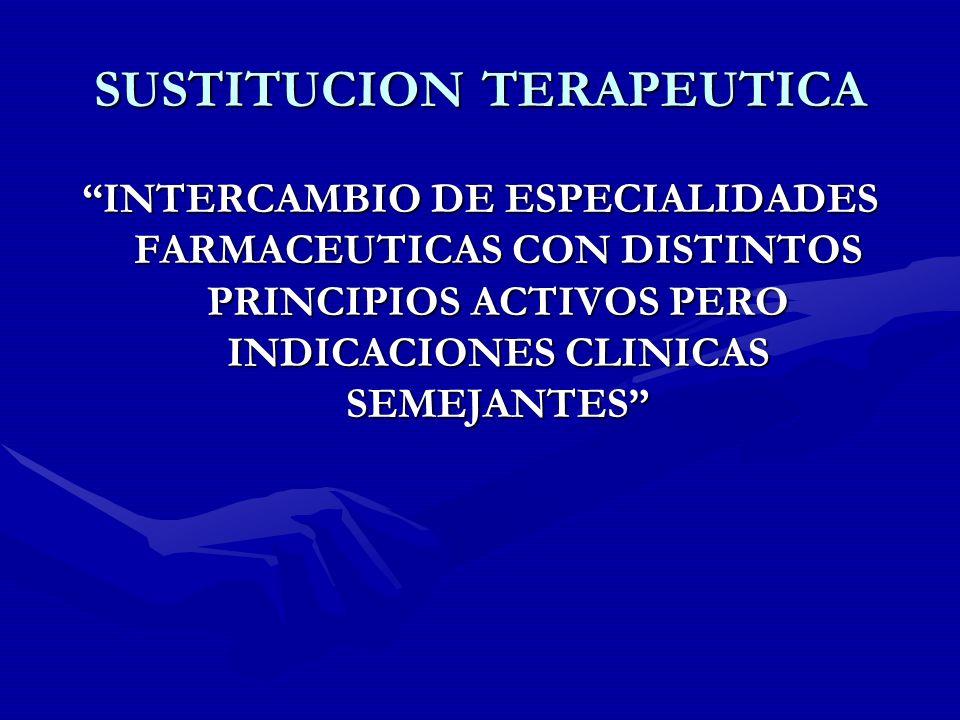 SUSTITUCION TERAPEUTICA