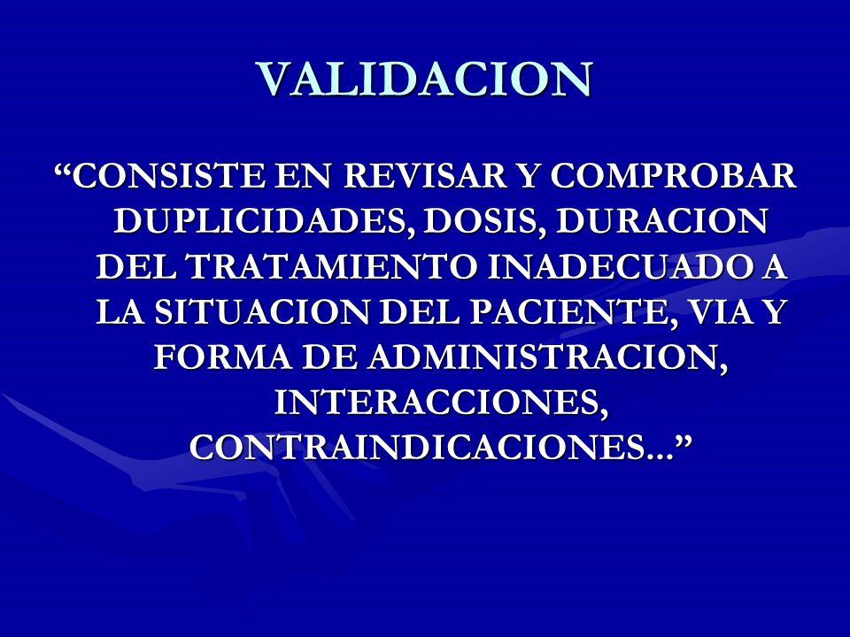 VALIDACION