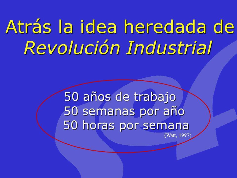 Atrás la idea heredada de Revolución Industrial