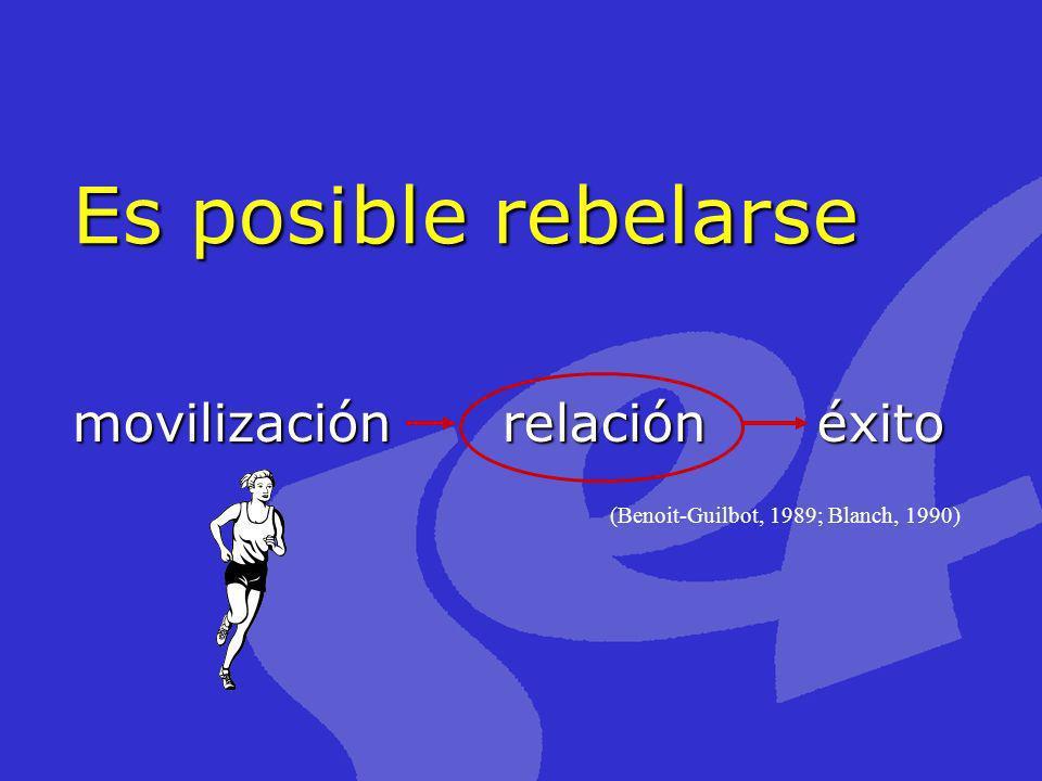Es posible rebelarse movilización relación éxito