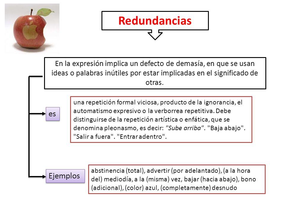 Redundancias es Ejemplos
