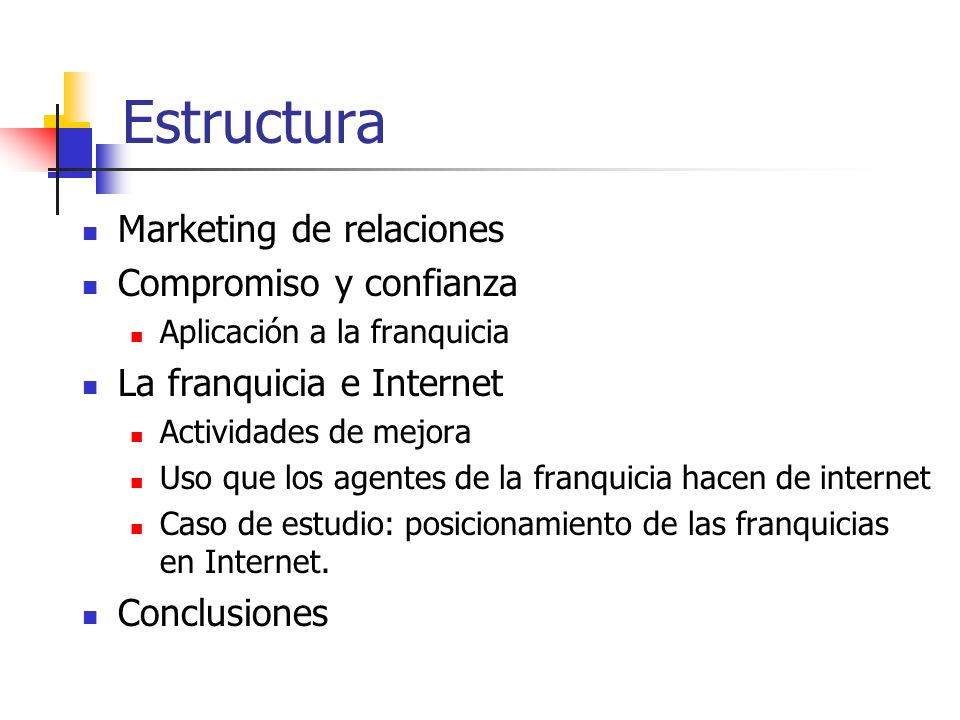 Estructura Marketing de relaciones Compromiso y confianza