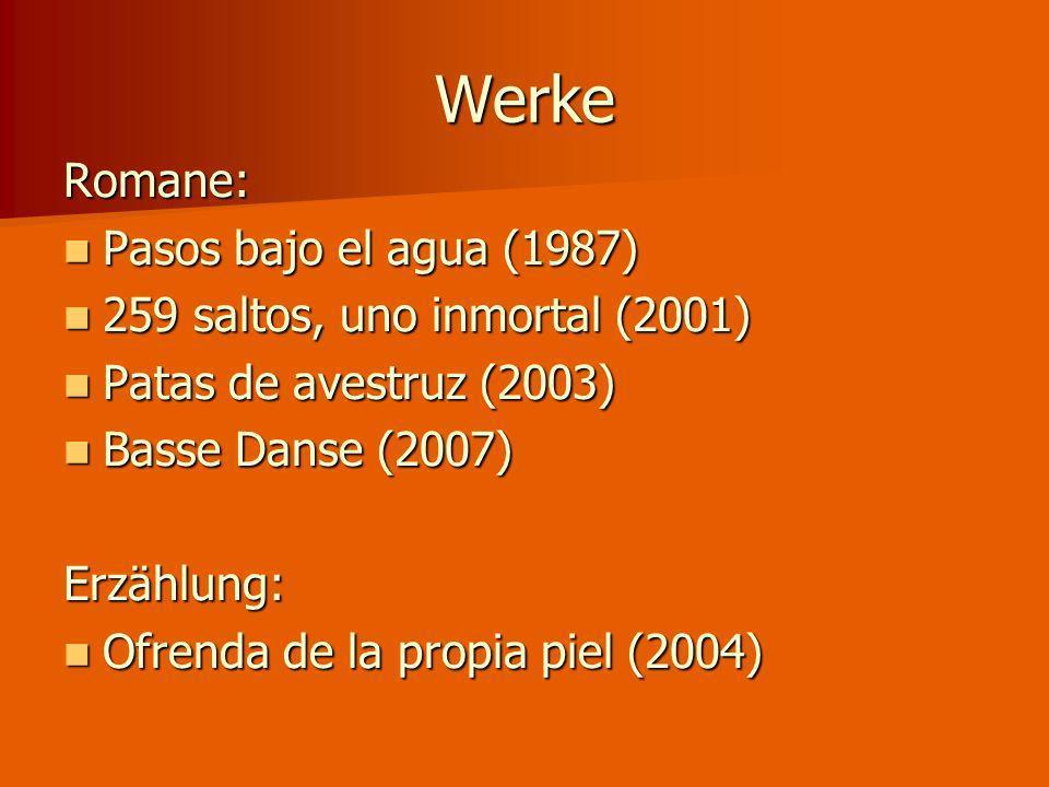 Werke Romane: Pasos bajo el agua (1987)