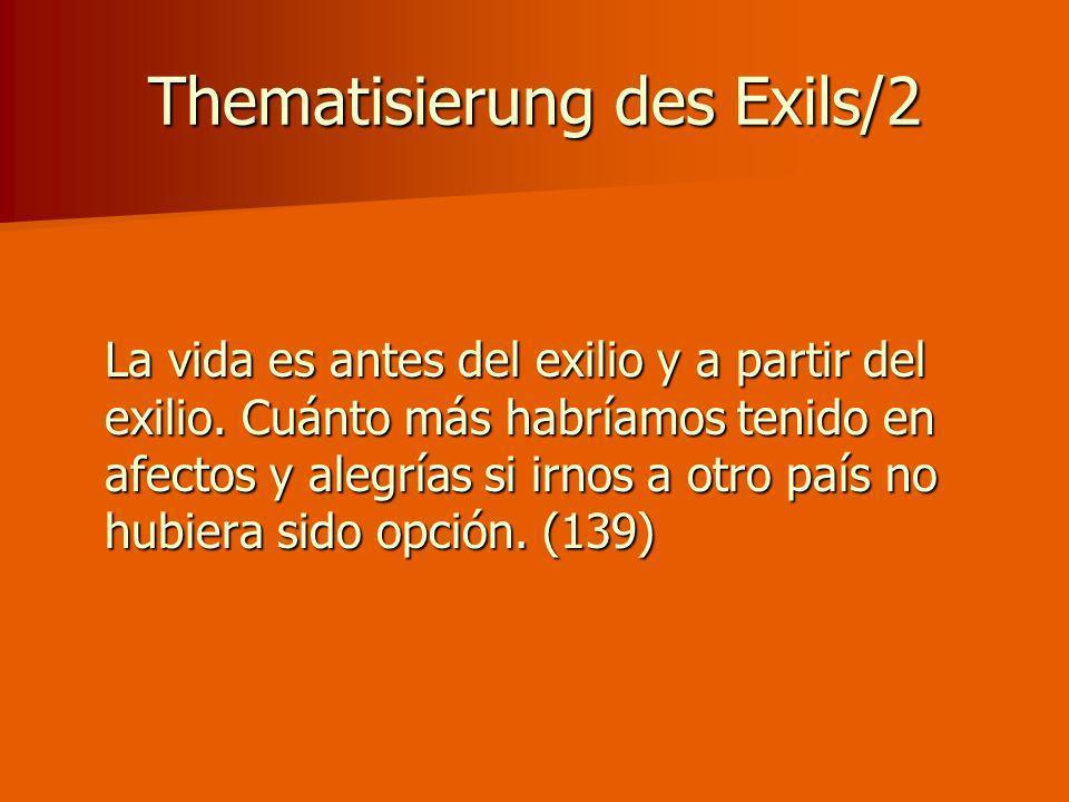 Thematisierung des Exils/2