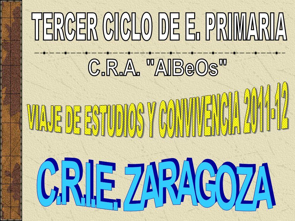 TERCER CICLO DE E. PRIMARIA VIAJE DE ESTUDIOS Y CONVIVENCIA 2011-12
