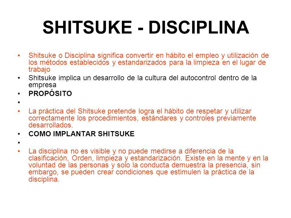 SHITSUKE - DISCIPLINA