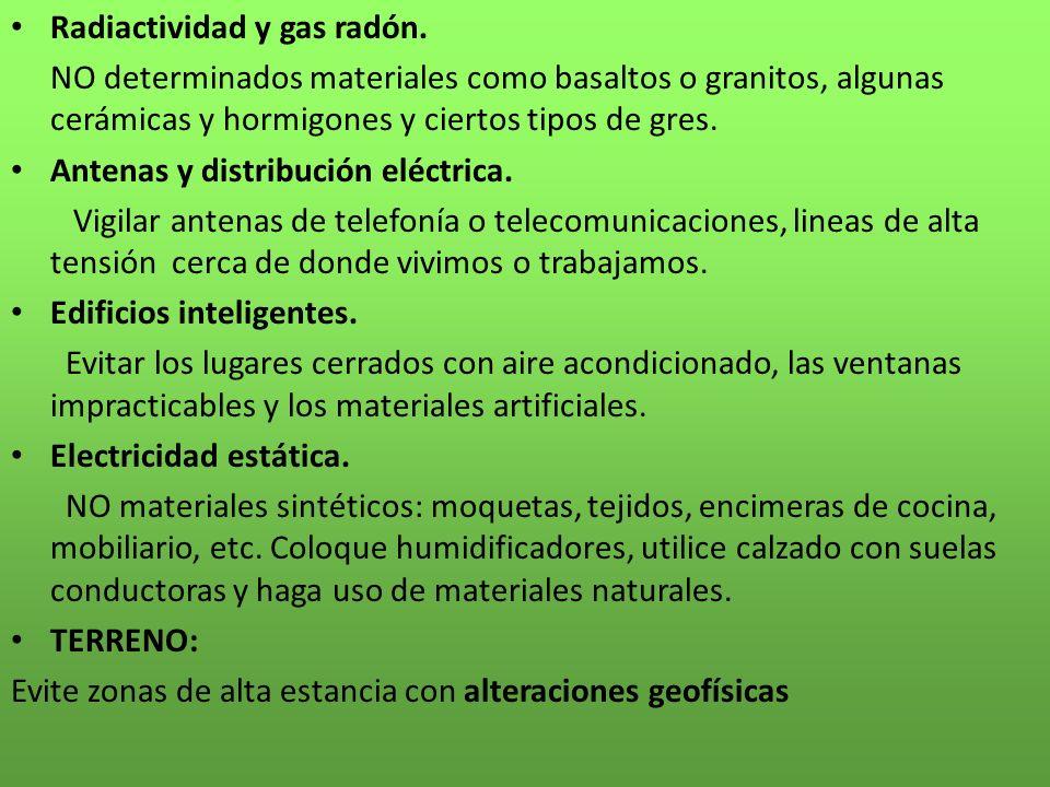 Radiactividad y gas radón.