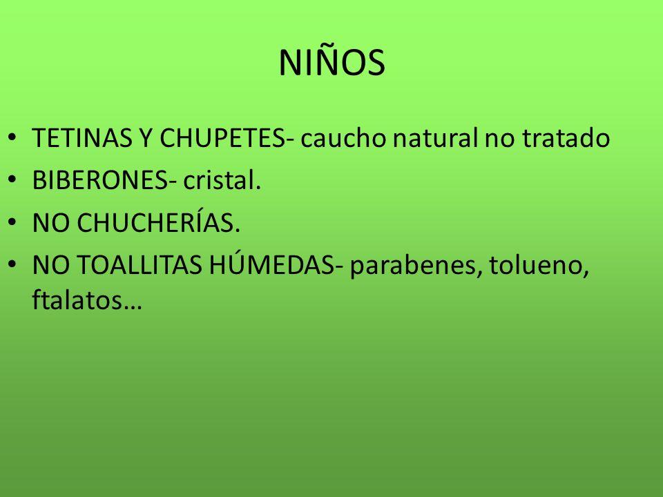 NIÑOS TETINAS Y CHUPETES- caucho natural no tratado