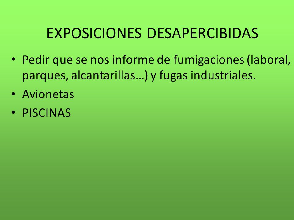 EXPOSICIONES DESAPERCIBIDAS