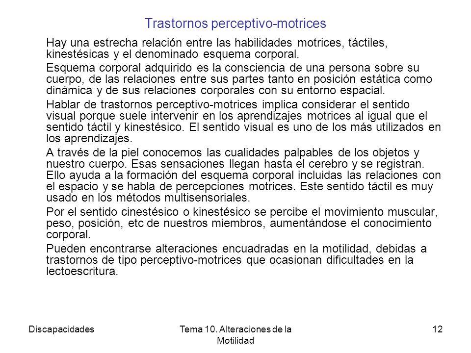 Trastornos perceptivo-motrices