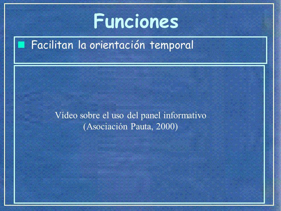 Vídeo sobre el uso del panel informativo (Asociación Pauta, 2000)
