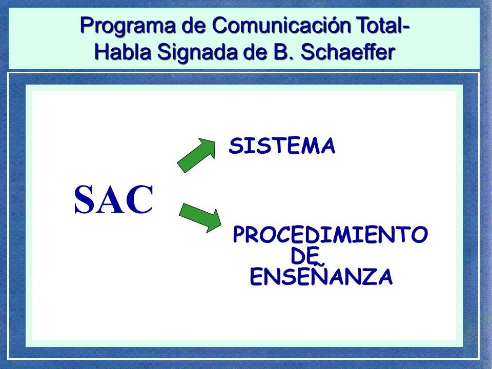 SAC Programa de Comunicación Total- Habla Signada de B. Schaeffer