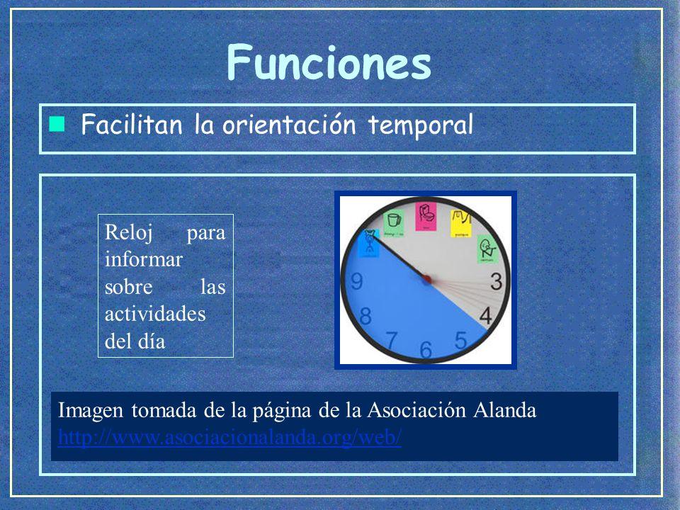 Funciones Facilitan la orientación temporal