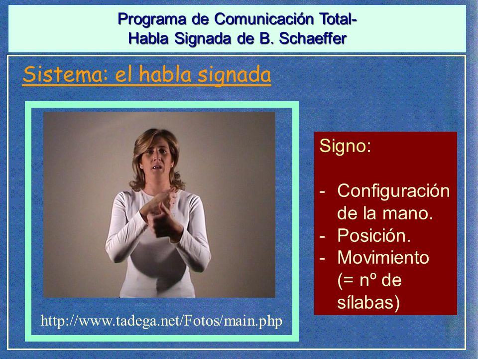 Sistema: el habla signada