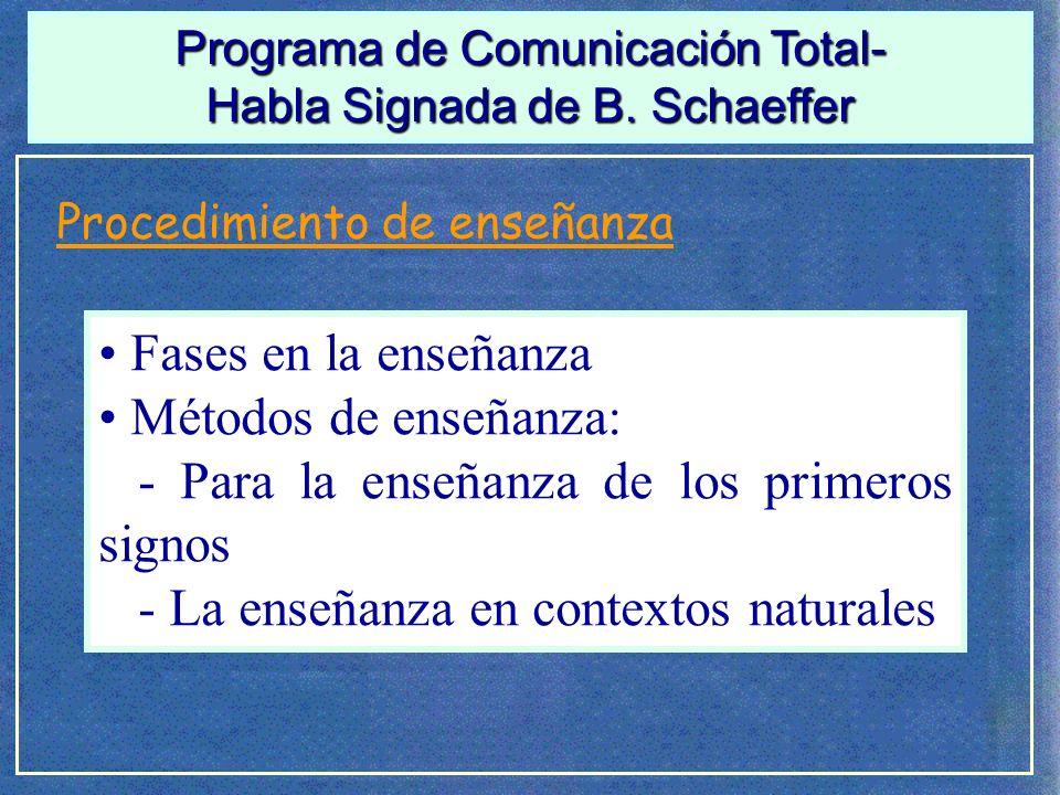 - Para la enseñanza de los primeros signos
