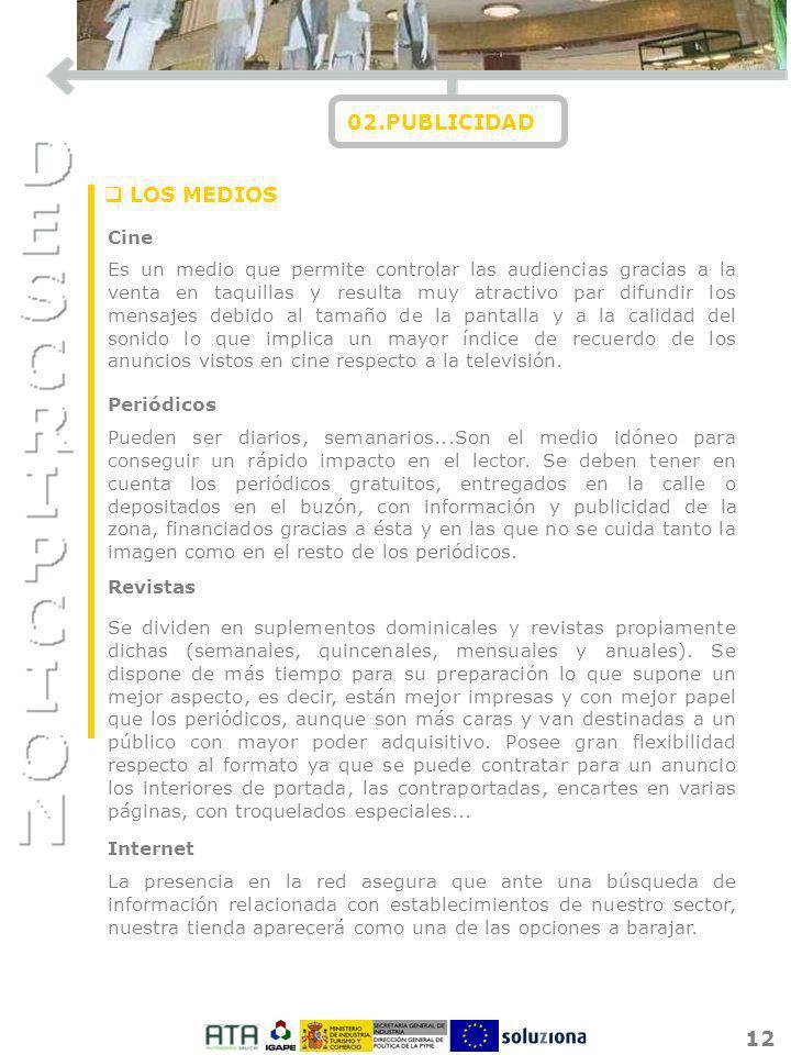 02.PUBLICIDAD LOS MEDIOS Cine