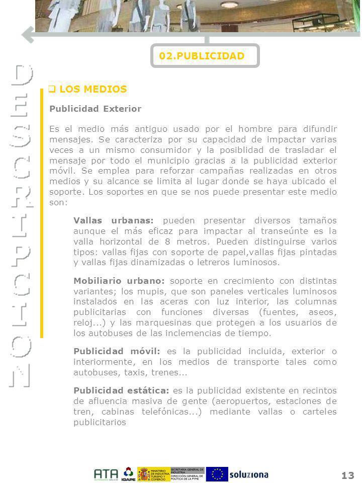 02.PUBLICIDAD LOS MEDIOS Publicidad Exterior