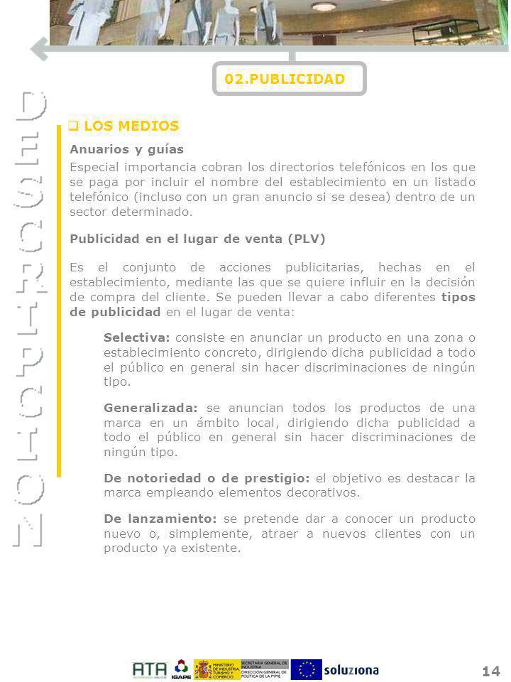 02.PUBLICIDAD LOS MEDIOS Anuarios y guías