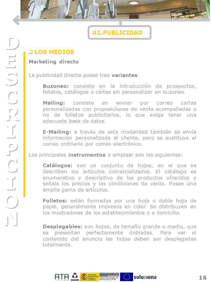02.PUBLICIDAD LOS MEDIOS Marketing directo