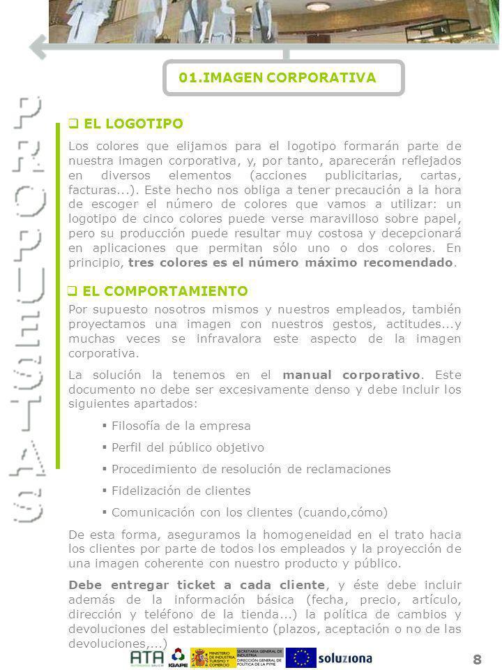 I O N 01.IMAGEN CORPORATIVA EL LOGOTIPO EL COMPORTAMIENTO