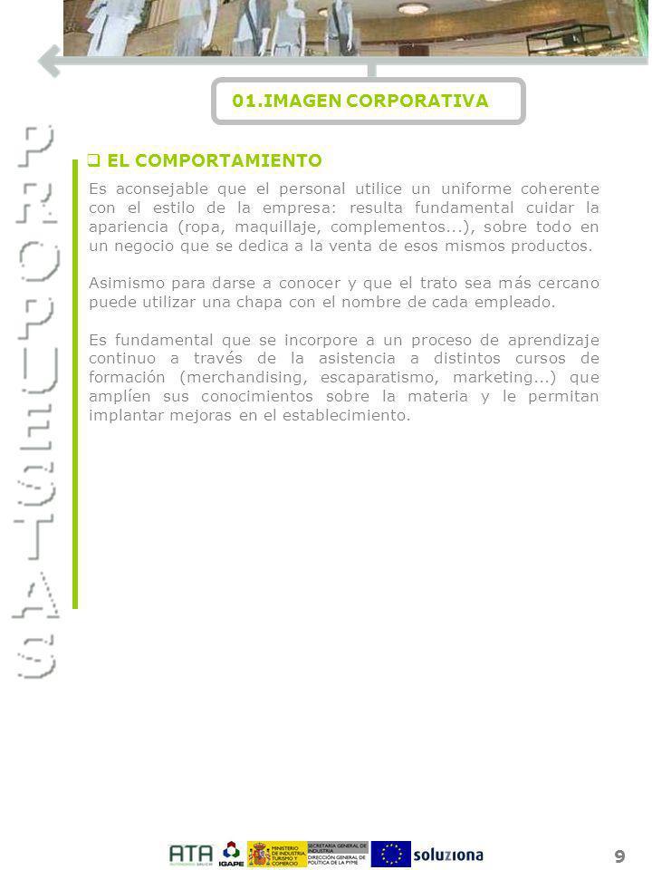 I O N 01.IMAGEN CORPORATIVA EL COMPORTAMIENTO