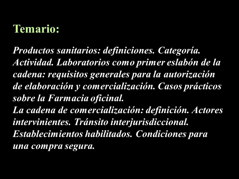 Temario: