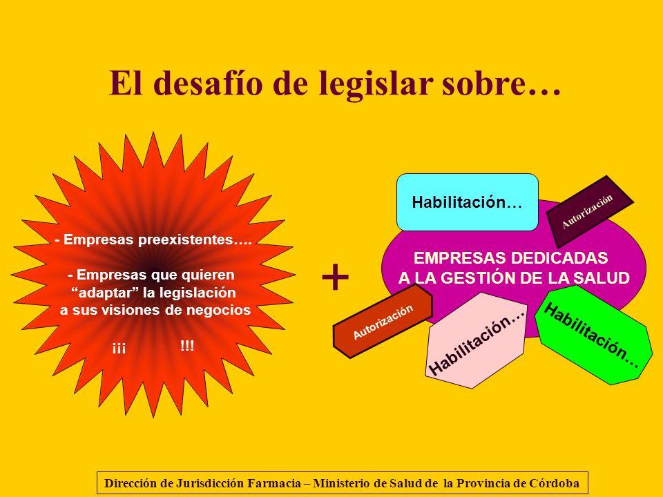 + El desafío de legislar sobre… Habilitación… EMPRESAS DEDICADAS