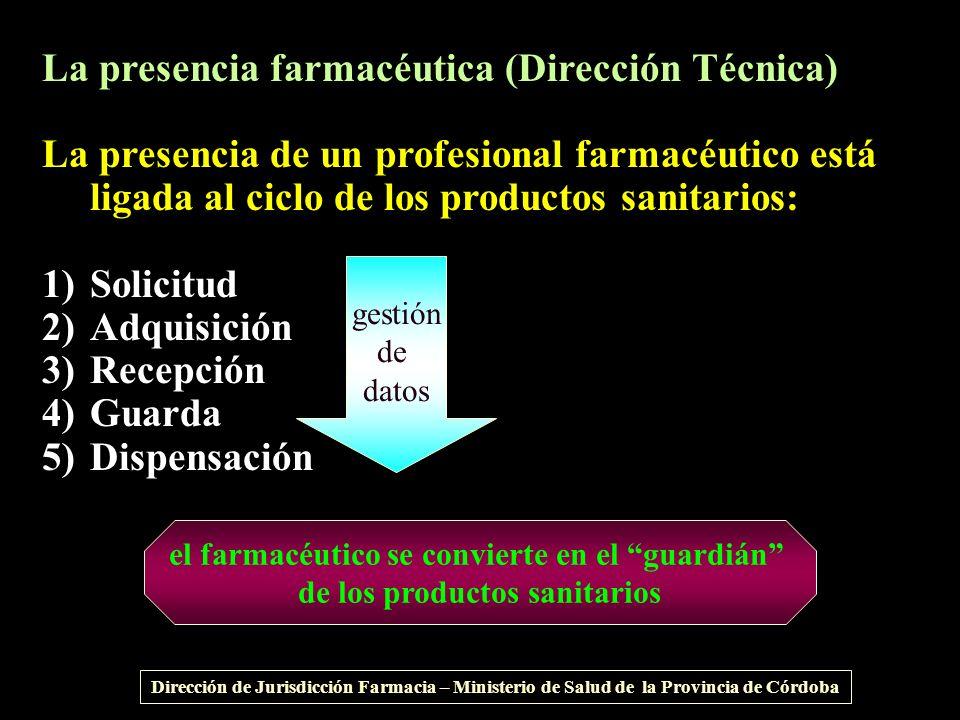 La presencia farmacéutica (Dirección Técnica)