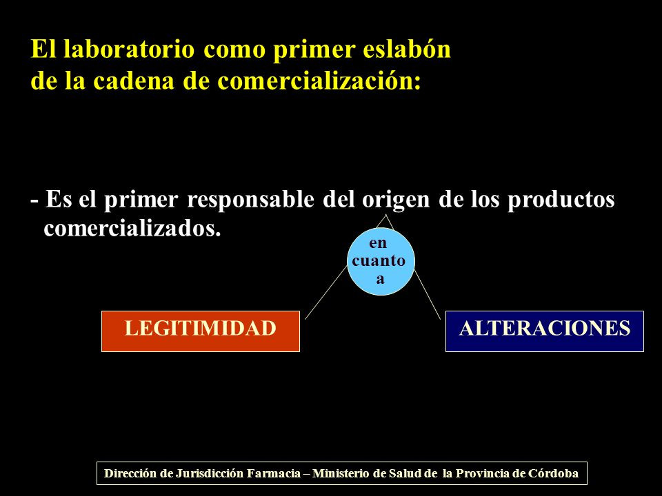 El laboratorio como primer eslabón de la cadena de comercialización:
