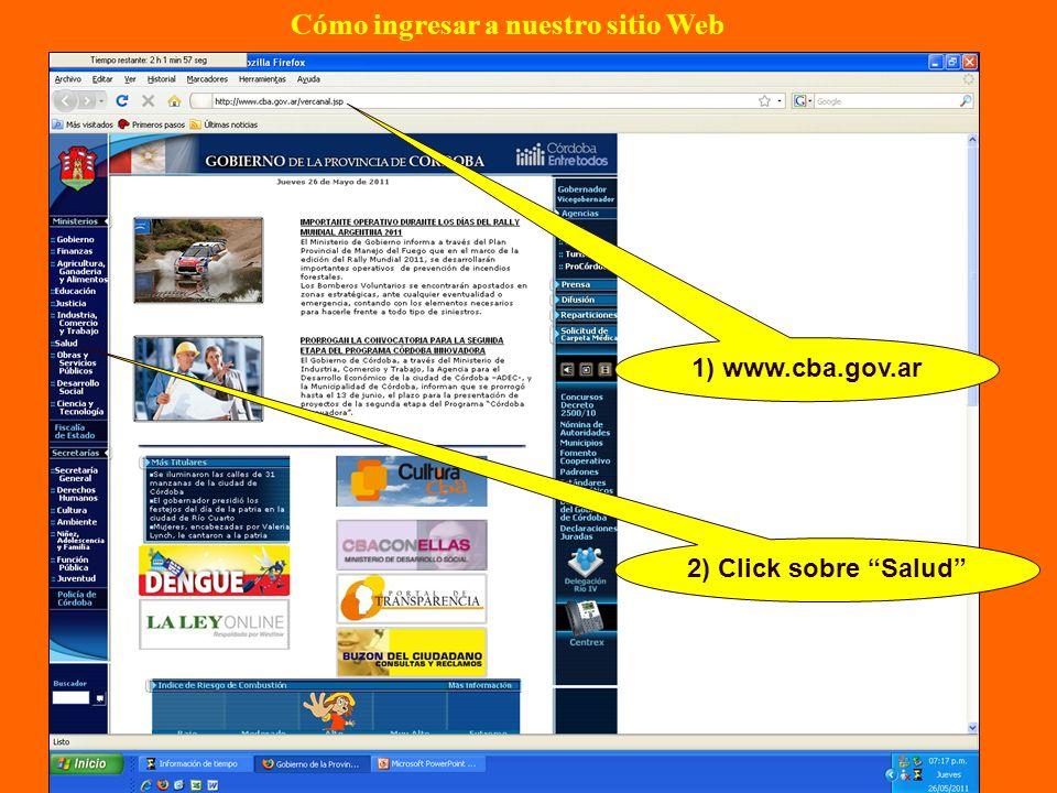 Cómo ingresar a nuestro sitio Web