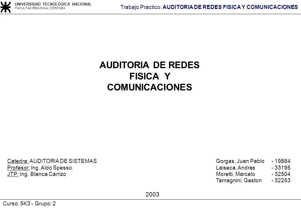 AUDITORIA DE REDES FISICA Y COMUNICACIONES