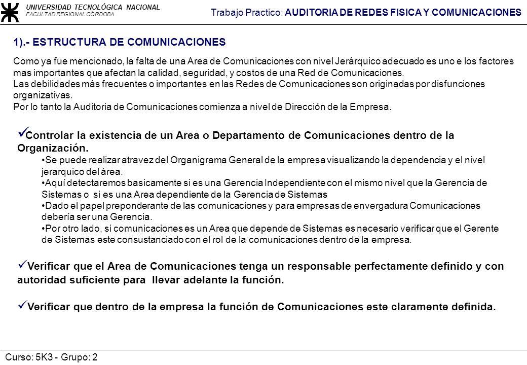 1).- ESTRUCTURA DE COMUNICACIONES