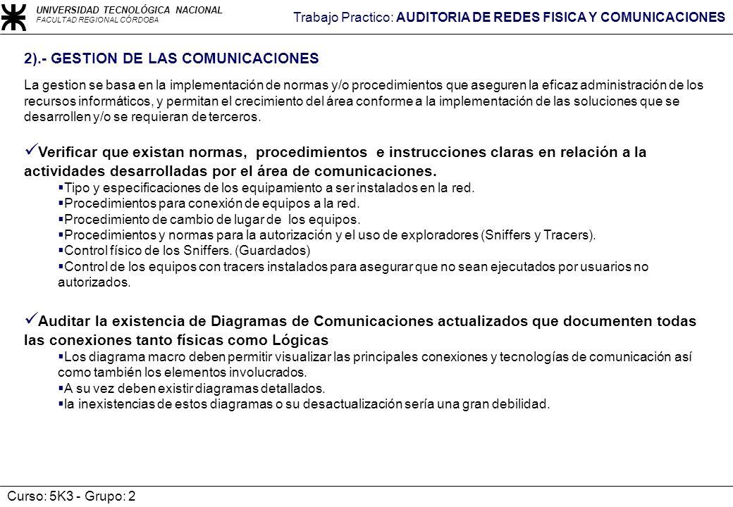 2).- GESTION DE LAS COMUNICACIONES