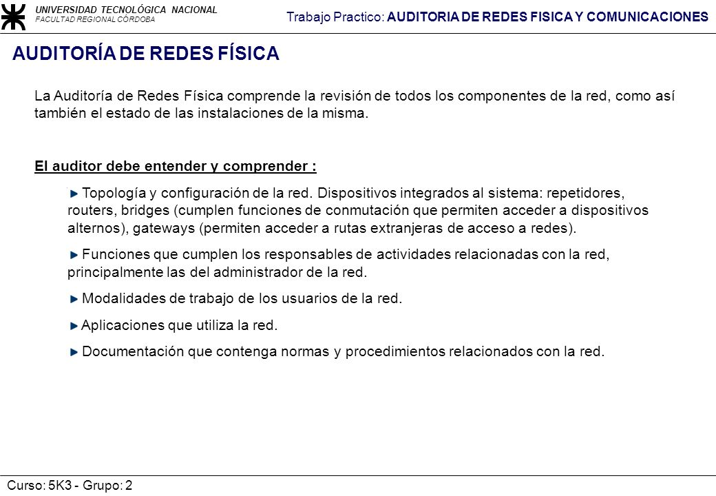 AUDITORÍA DE REDES FÍSICA