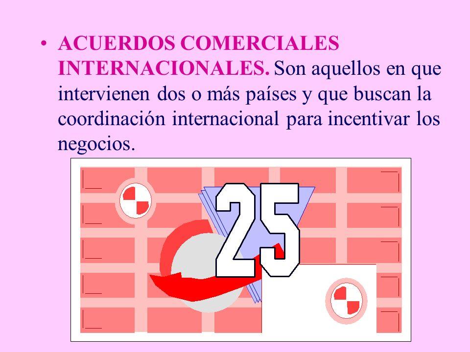 ACUERDOS COMERCIALES INTERNACIONALES