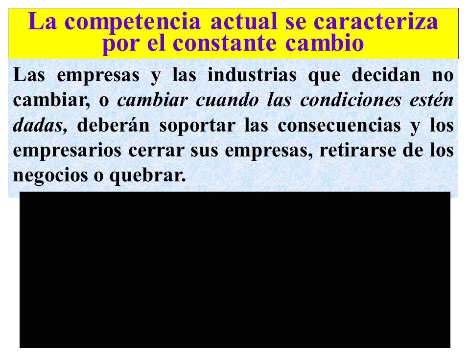 La competencia actual se caracteriza por el constante cambio