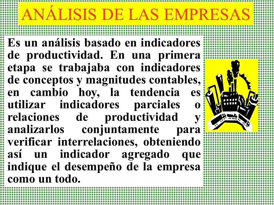ANÁLISIS DE LAS EMPRESAS