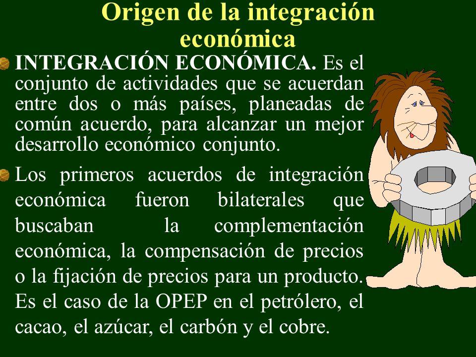 Origen de la integración económica