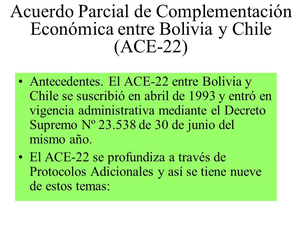Acuerdo Parcial de Complementación Económica entre Bolivia y Chile (ACE-22)