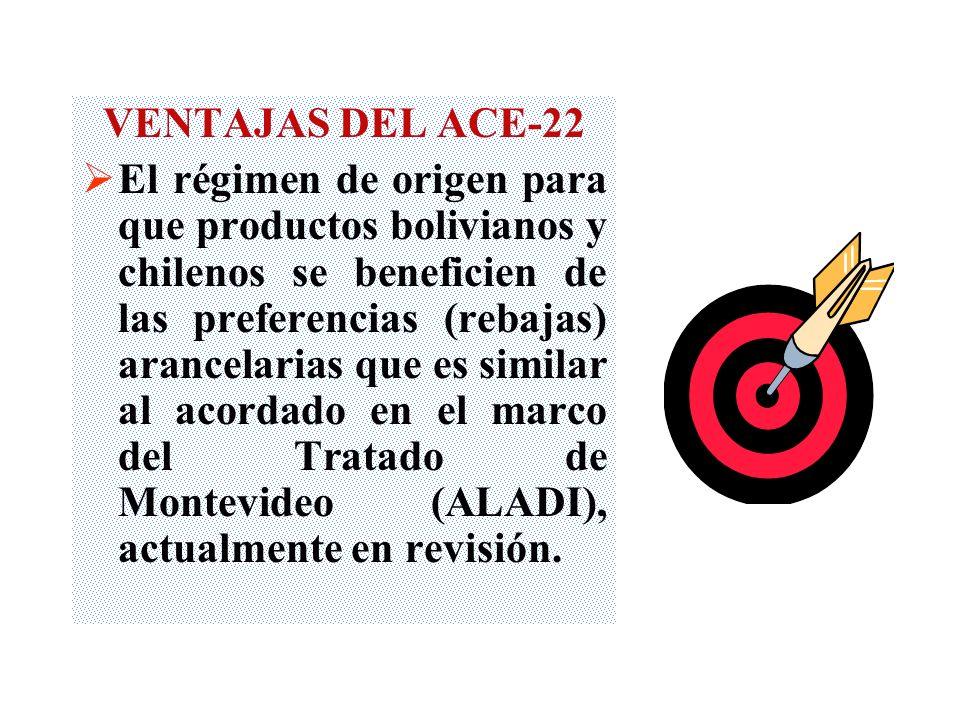 VENTAJAS DEL ACE-22